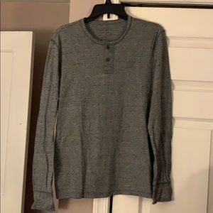 4/$25 Gray heather long sleeve top size small
